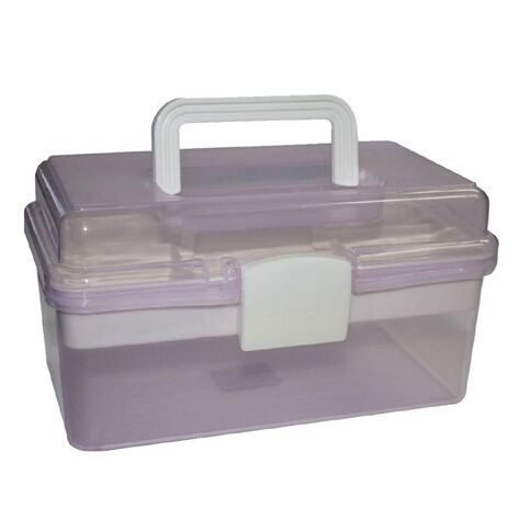 Sullivans Storage Box Plastic Tackle Box Lilac