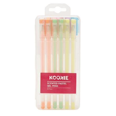 Kookie Gel Pens Scented Pastel Mixed Assortment 12 Pack