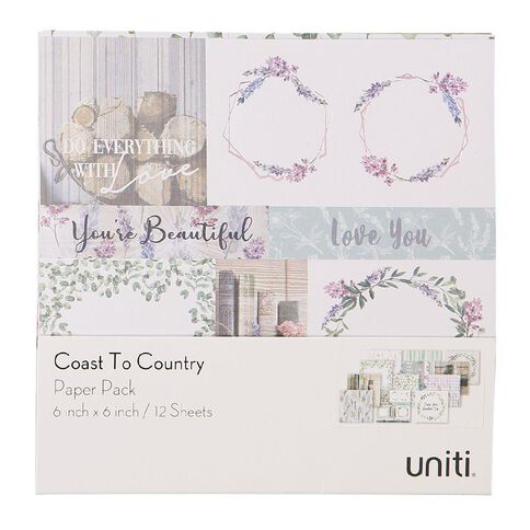 Uniti Coast to Country Paper Pad 6x6 inch
