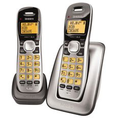 Uniden Dect1715+1 Cordless Phone Twin Silver