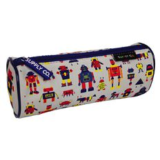 Robot Design Tube Pencil Case