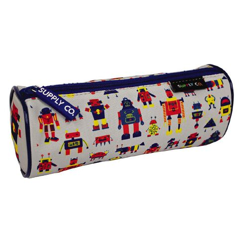 Robot Design Tube Pencil Case Multi-Coloured