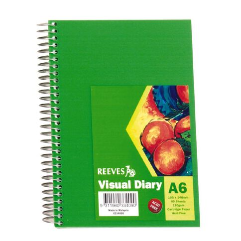 Reeves Visual Diary A6 Green Green A6