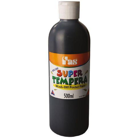 FAS Paint Super Tempera 500ml Black Black 500ml