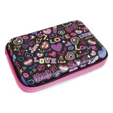 Pencil Case Love Hard Shell Fabric