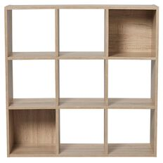 Living & Co Mason 9 Cube Oak Look