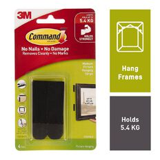 Command Picture Hanging Strips 4 Pack Black Medium