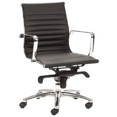 Chair Solutions Contempo Midback Chair Black PU Black