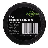 Pomona PVC Duct Tape 48mm x 30m Black