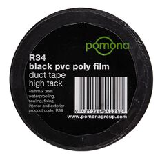 Pomona PVC Duct Tape Black 48mm x 30m