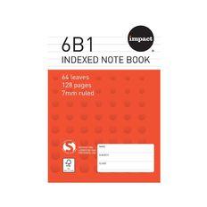 Impact Note Book 6B1 Index 7mm Ruled 64 Leaf