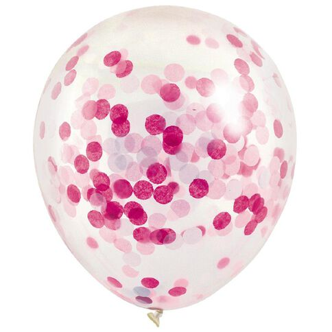 Artwrap Party Balloons Confetti 30cm Pink 3 Pack