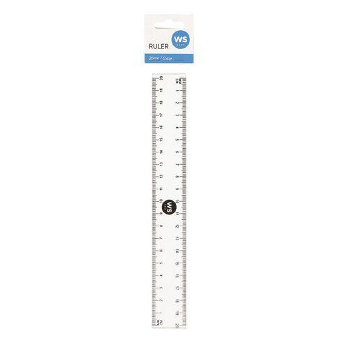 WS Ruler 20cm Clear