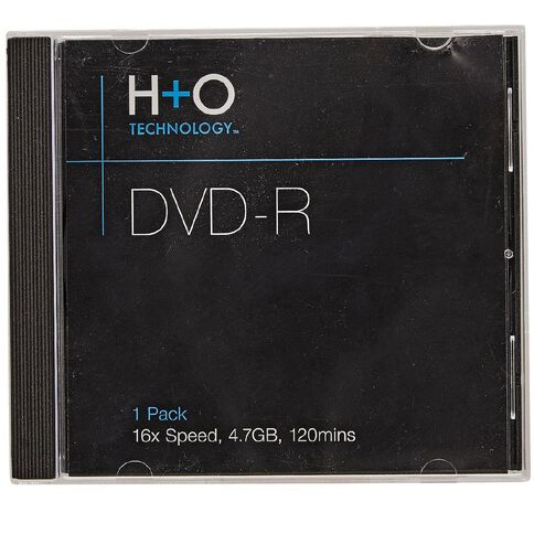 H+O Dvd-R 16X 4.7 Gb 1-Jewel Case