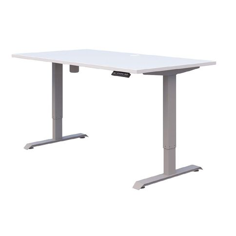 Accent Quick Ship Electric Desk Silver/Snow 1200 x 700