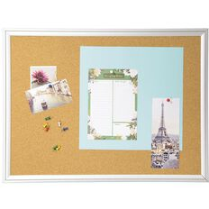 WS Alu Frame Cork Board 450 x 600mm