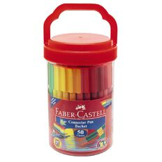 Faber-Castell Connector Bucket of 50 Multi-Coloured 50 Pack