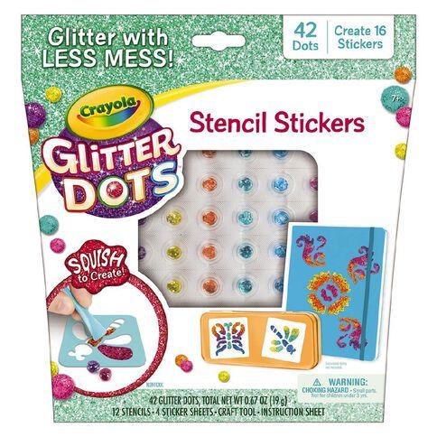 Crayola Glitter Dots Stencil Stickers