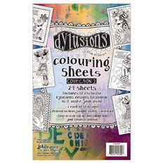 Ranger Dylusions Colouring Sheets 5 x 8 Inches Collection 2