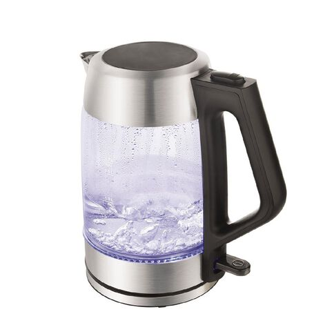 Living & Co Glass Kettle With Stainless Steel Trim
