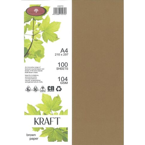 Direct Paper Enviro Paper 104gsm 100 Pack Kraft Brown A4