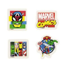 Marvel Kids Avengers Novelty Erasers 4 Pack
