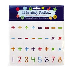 Learning Tool Box Magnetic Numbers Basic Maths Assorted