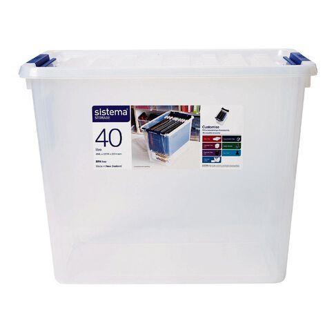Sistema Storage Organiser 40L Clear