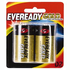 Eveready Gold Batteries D 2 Pack