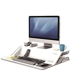 Fellowes Lotus Sit Stand Desk White White