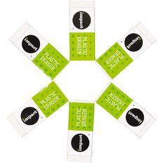 WS Eraser 6 Pack White