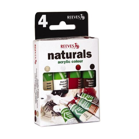 Reeves Acrylic Paint Trend Pack Naturals 10ml 4 Pack