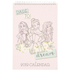 Disney Princess 2019 Calendar 210mm x 310mm