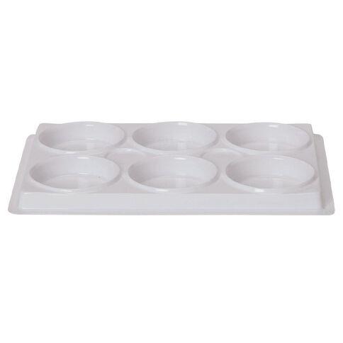 Uniti Palette Plastic 6 Cups White