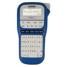 Brother PTH110BW P-Touch Label Maker Blue/White