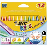 Bic Kids Plastidecor Triangle Crayons 12 Pack