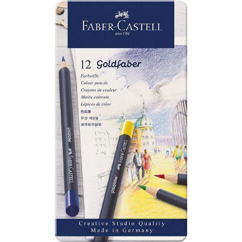 Faber-Castell Goldfaber Colour Pencils Tin 12 Pack 12 Pack