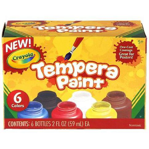 Crayola Tempera Paint 6 Pack