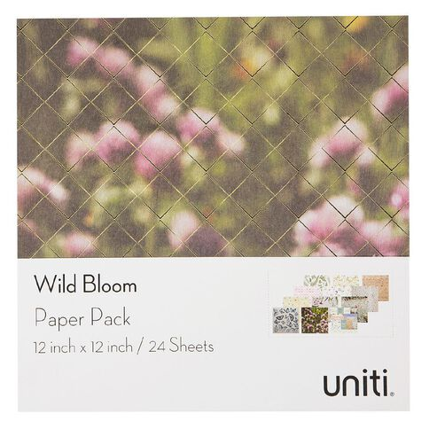 Uniti Wild Bloom Designer Paper Pad 12in x 12in