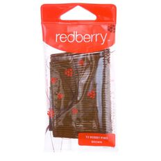 Redberry Bobby Pins Brown