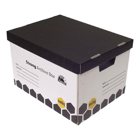Marbig Archive Strong Boxes 3 Pack Wrapped White