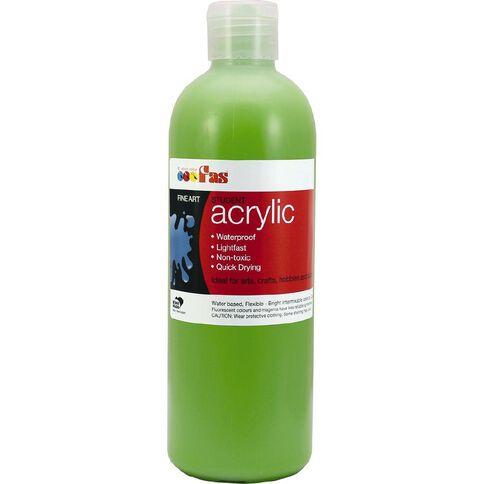 FAS Paint Student Acrylic 500ml Light Green Green 500ml