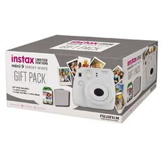 Fujifilm Instax Mini 9 Instant Camera Smoky White Gift Pack
