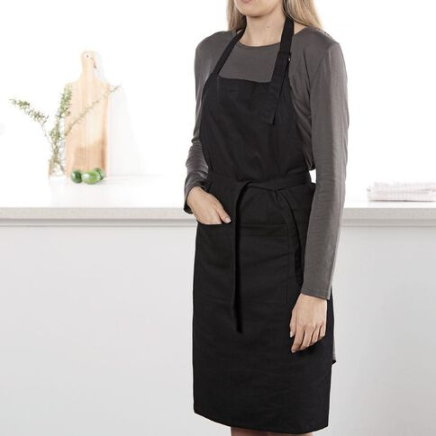 Living & Co Apron Black 70cm x 90cm