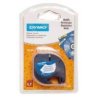 Dymo Letratag Plastic Tape 12mm x 4m Pearl