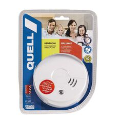 Quell Smoke Alarm Photoelectric with Hush Bedroom Hallway White