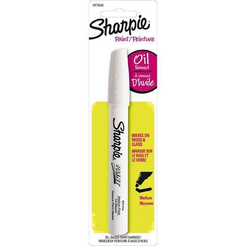 Sharpie Oil-Based Paint Marker Medium Point White - 1-pack