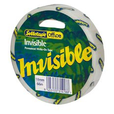 Sellotape Invisible Tape 18mm x 66m Clear