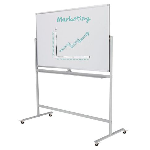 Boyd Visuals Porcelain Mobile Whiteboard 900 x 1200mm