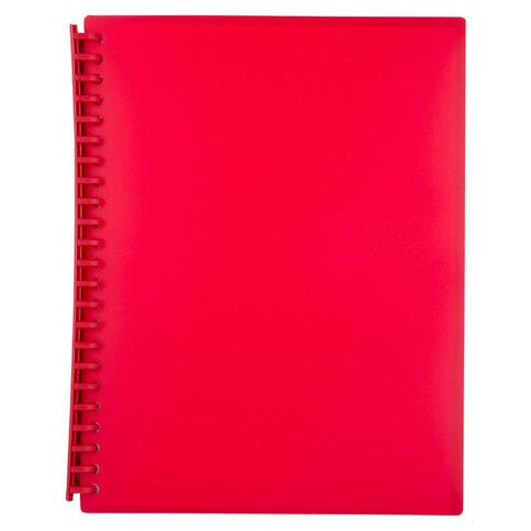 WS Clear Book Refillable 20 Leaf Red A4